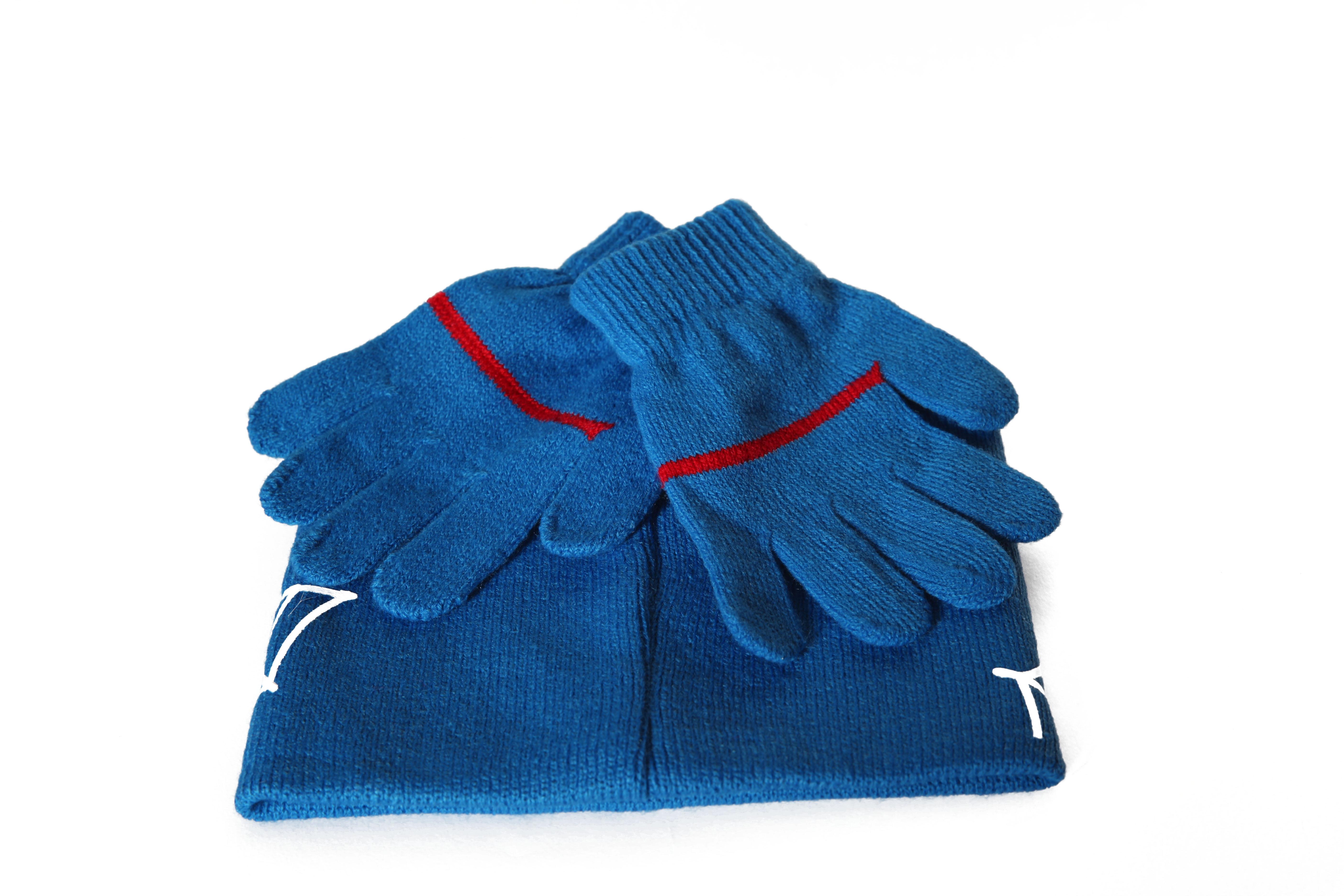 Set caciula+manusi Spiderman, albastru 52 cm 1